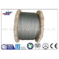 Strong Galvanized Steel Wire Rope , Aircraft Grade Wire Rope Anti Rotation For Heavy Machinery Manufactures