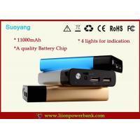 China 5V 2.1A Rechargeable Mobile Phone Battery Charger Metal Shell 11000mAh on sale