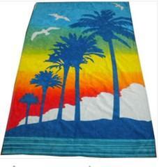 China 80%polyester 20%polyamide customized microfiber beach towel on sale