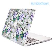 China Popular purple white flower style attractive appearance ,pc case for Macbook pro 11'12'13'15inch shell on sale