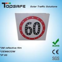 Aluminum Flashing Solar LED Traffic Speed-Limited Sign (TPS-S4) Manufactures