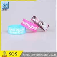 Eco Friendly Debossed Color Filled Silicon Wristbands / Embossed Printing Rubber Bracelets Manufactures