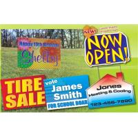 Outdoors Corrugated Plastic Sheets / Corrugated Plastic Yard Signs Full Color Manufactures