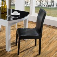 Waterproof PVC Leather Dining Chairs With Metal Legs Hotel Conference Using