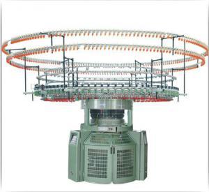 5.5KW Auto Striper Circular Knitting Machine , 2.5T Single Jersey Knitting Machine