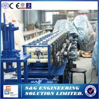 China Iron Steel Rolling Shutter Manufacturing Equipment , Roller Shutter Forming Machine Gear Box Driven Type on sale