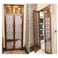 China hotel indoor stainless steel screen room divider metal door partition made in china on sale
