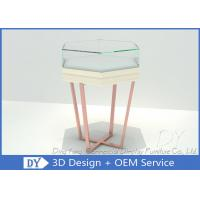 Simple Fashion Glass Jewelry Display Case With Environmental PU Paint Manufactures