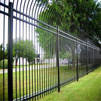 Galvanized steel safety fence modern metal fence panels with different colors Manufactures