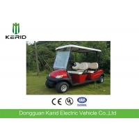 Metallic Red Color Electric Fuel Type Golf Carts DC Motor 4 Passengers Cheap Golf Buggy For Sale Manufactures