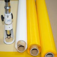 Heat Resistant Polyester Screen Printing Mesh , Plain Woven Polyester Mesh Fabric Manufactures