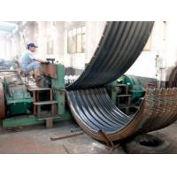 Drain Culvert Corrugated Sheet Roll Forming Machines With Plasma Cutting Manufactures