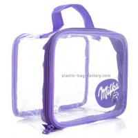 China Customized See-through Vinyl PVC Travel Tote Bag Handbag for Girl Cosmetic Items on sale