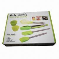 10-piece Silicone Bakeware Set, Made of 18/0 Stainless Steel Handle Material Manufactures
