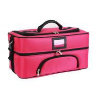 Professional Travel Cosmetic Bags , Portable Fabric Cosmetic Organizer Bag Manufactures