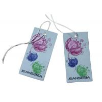 China Shining Embossed Touchable Clothing Hang Tags Flower Personalized Silk Screen Printing on sale