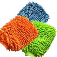 China microfiber chenille mitt, cleaning gloves on sale