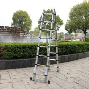 China Aluminium Telescopic Extension Double side 3.2m 3.8m 4m 5m 6m Folding Ladder on sale