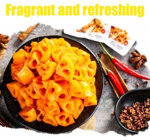 China Tasty vegetarian food lotus root block Vacuum package for one bag on sale