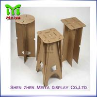 Full Color Printing Recycled Cardboard Furniture , Foldable cardboard chair Manufactures