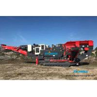 Compact Mobile Coal Crusher Machine / Mobile Quarry Crusher Easy Operation for sale
