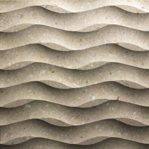 Decorative Stone 3D Wavy Modular Stone Elements Tile Manufactures