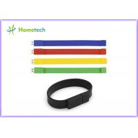 Silicone Bracelet Rubber Band Wristband USB Flash Drive 1 Year Guarante Manufactures