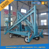 Hydraulic Mobile Articulated Trailer Mounted Boom Lift with Battery / Diesel Power Source Manufactures
