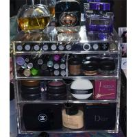 China Arcylic PMMA wholesale acrylic makeup organizer with drawers on sale