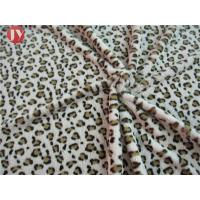 Customized Clothing Home Textile Plush Toy Fabric Knitted Printing Leopard Animal Polyester Manufactures
