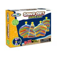 Colorful Glitter Sand Arts And Crafts Toys For Kids Age 5 W / 4 Bottles Manufactures