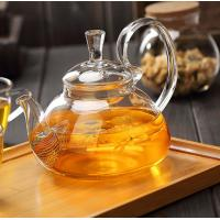 China Clear Heat Resistant Glass Teapot 350ml With removable tea infuser for sale on sale