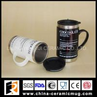 China 340ml stainless steel ceramic mugs for promotional gifts on sale
