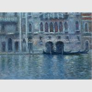 Canvas Claude Monet Oil Paintings Reproduction Palazzo Da Mula At Venice Wall Decor Manufactures