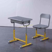 China OEM Student Study Table And Chair Set , Lifting 1.5mm Iron Aluminum Frame Modern Classroom Chairs on sale