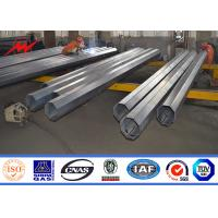 Bitumen tapered electrical transmission pole 35FT 3mm Thick Hot Dip Galvanized for sale