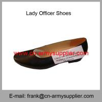 China Wholesale Cheap China Black Genuine Leather Sole Lady Officer Shoes on sale