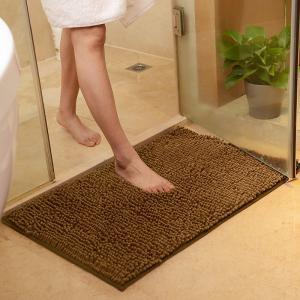 Chenille Bath Rug Plush Carpet Mat In Bedroom Machine Washable Rug Baths Toilet Lid Cover Mat Manufactures