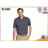 Mature Custom Mens Polo Shirts Grey Color / Pink Color Dri Fit Polo Shirts Manufactures