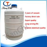 High quality semen dewar container for liquid nitrogen 35 L aluminum container for sale Manufactures