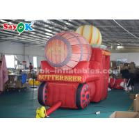 China High Air Tightness Inflatable Holiday Decorations Halloween Pumpkin Carriage on sale