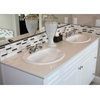 Luxury Square Artificial Marble Vanity Countertops Double Baisn Flat Edge / Eased Edge Manufactures