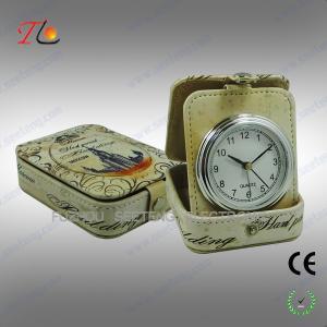 OEM design portable travel alarm clock in PU case CE ROHS Manufactures