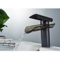China Single Handle Control Waterfall Bathroom Faucets Glass Spout ROVATE on sale