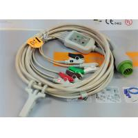 China 5 Leads Snap AHA ECG Patient Cable , Mindray 12 Pin One Piece ECG Cable on sale
