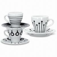 Porcelain Coffee Sets with 3 and 3.5-inch Cup Diameter, Various Sizes and Designs are Available Manufactures