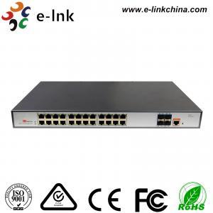 L3 Managed PoE Switch POE Fiber Media Converter 24 Port 10 / 100 / 1000 Base -T Manufactures