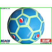 Blue 32 Panel PVC Light Pepsi Soccer Ball Customizable Footballs Manufactures