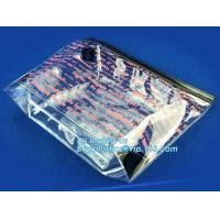 PVC Slider zipper bag plastic bag with zipper, slider zipper plastic bag for packaging, slider zipper pvc pouch clear vi Manufactures