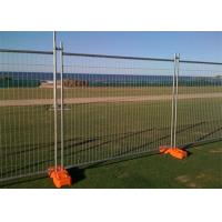Galvanized Steel Temporary Mesh Fencing 2.4x 2.1 Meter For Sporting Events Manufactures